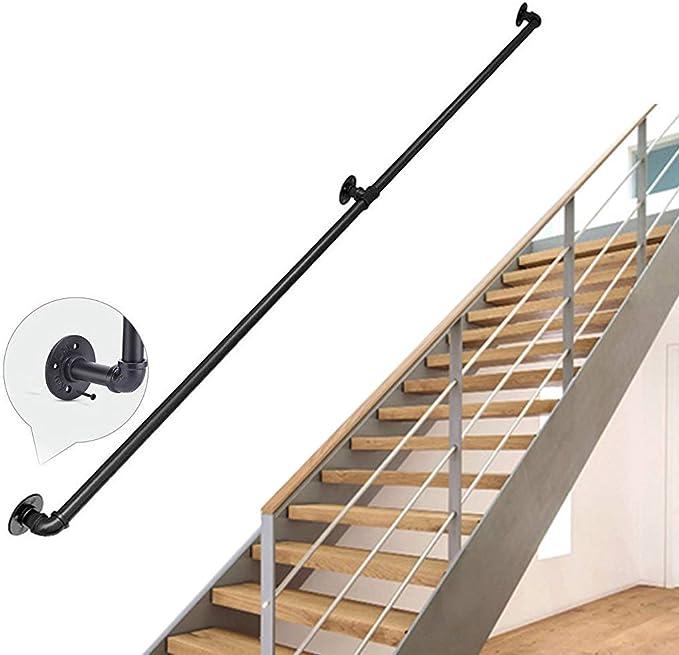 JUN-Pasamanos Baranda de Escalera de Hierro Fundido rústica Industrial, Perchero, baranda de Pared Toallero de riel de Toalla Uso en pasillos, rampas o escaleras Baño: Amazon.es: Hogar