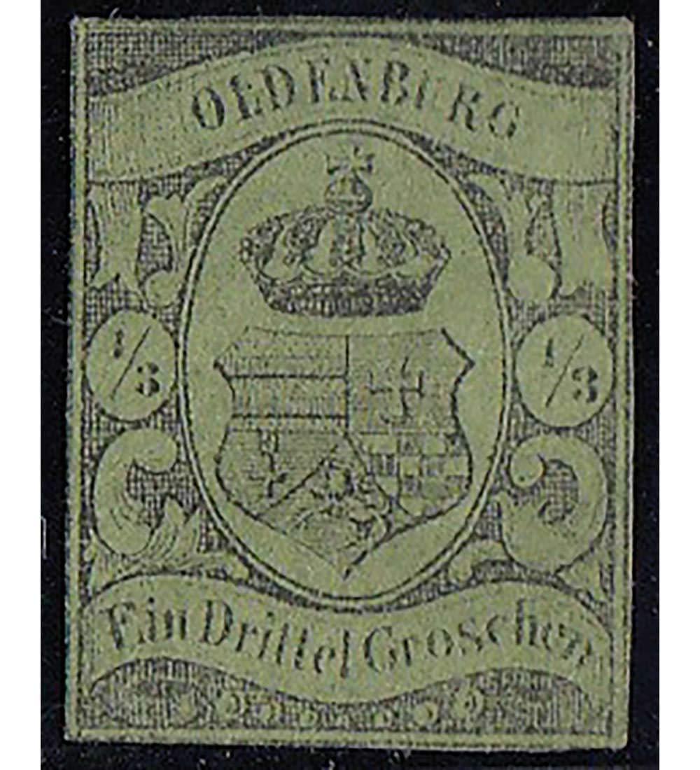 Goldhahn Oldenburg Nr. 5 ungestempelt geprüft und Signiert Briefmarken für Sammler