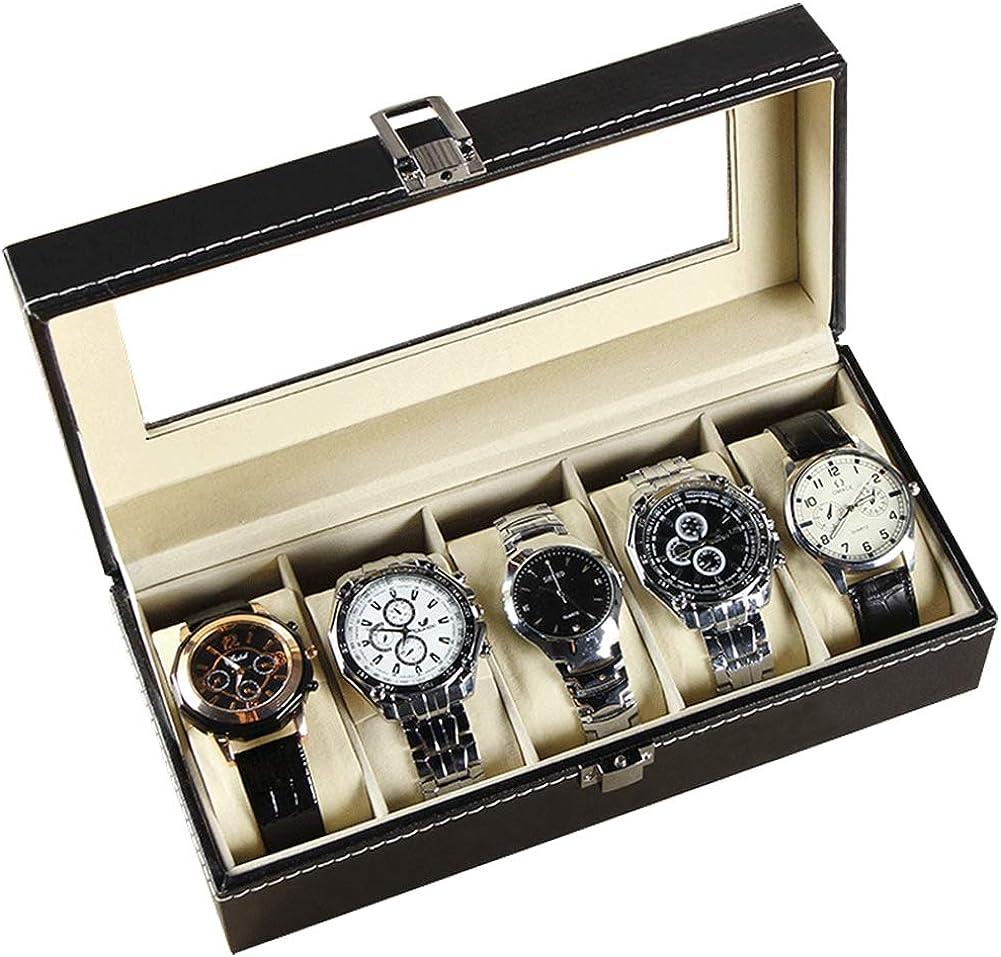 Caja para Guardar Relojes De Pulsera,5-Red Regalos Reloj Caja De Colección: Amazon.es: Relojes