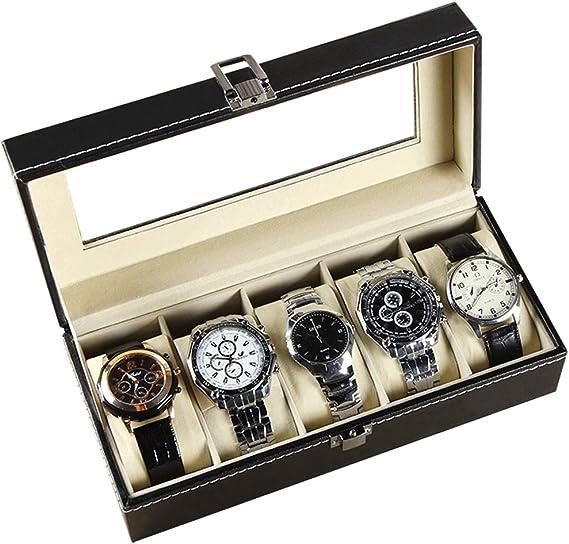 Caja para Guardar Relojes De Pulsera,5-Red Regalos Reloj Caja De ...