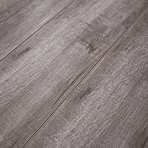 Timeless Designs Heather Grey 12mm Laminate Flooring with 2mm Attached Foam Backing CS13022 SAMPLE - Flooring