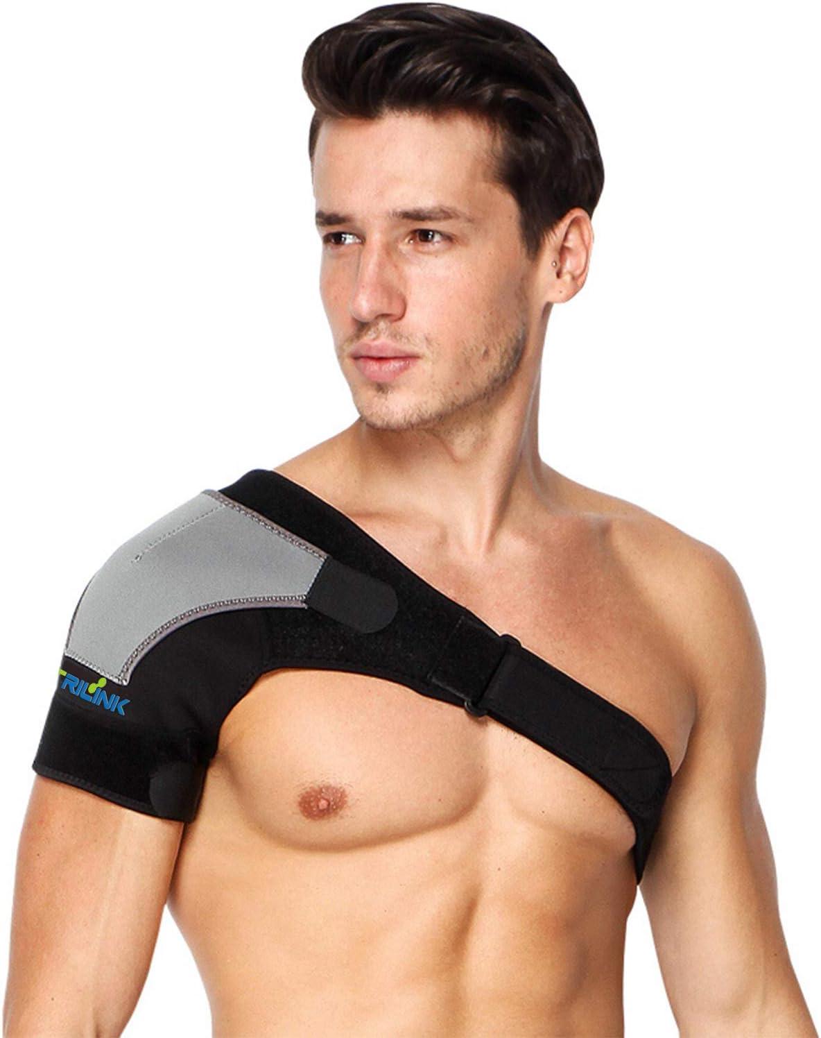 Hombrera Ajustable para Hombre y Mujer - Hombreras Deportivas Compatible con Paquete Frío/ Caliente - para el Manguito Rotador, Alivio del Dolor de Hombro, Desgarro de Labrum, Bursitis