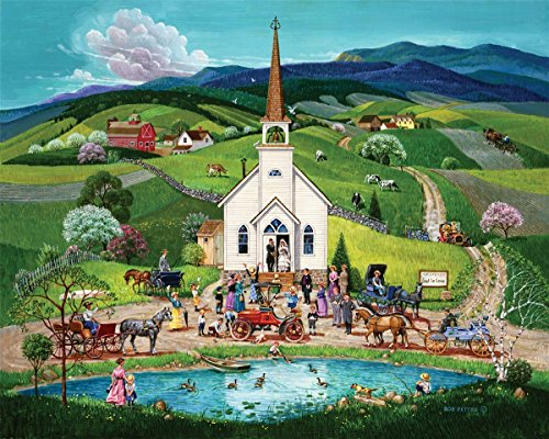 Springbok Alzheimer & Dementia Jigsaw Puzzles - Spring Wedding - 100 Piece Jigsaw Puzzle - Large 23.5 Inches by 18 Inches Puzzle - Made in USA - Extra Large Easy Grip Pieces (Best Made Jigsaw Puzzles)