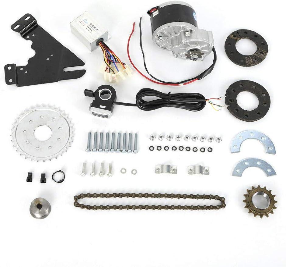 Kit de conversión de 250 W para bicicleta eléctrica de 24 V, motor trasero