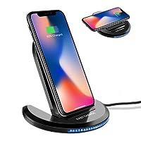 Fast Wireless Charger, ELEGIANT Qi Schnellladegerät Drahtloses Induktive Schnellladestation Faltbare Ladestation für Samsung Galaxy S9/S9+ / Note 8 / S8/ S8 plus/ S7 / S7 Edge/ S6 Edge Plus / Note 5, iPhone 8 / iPhone 8 Plus / iPhone X, und alle Qi Fähige Geräte