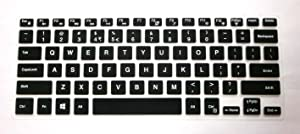 BingoBuy US Layout Keyboard Protector Skin Cover for Dell Inspiron 13-5368 13-7368 13-7378 13-5378 15-5591 15-5568 15-5578 15-7569 15-7579 15-9560 i7368 i7378 i5568 i7569 i7579 Case (Black)