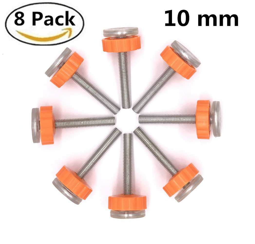 8 Pack Walk Thru Gates Accessory Screw Mounted Bolts Kit Pressure Mounted Baby Gates Threaded Spindle Rods 10MM GoIris