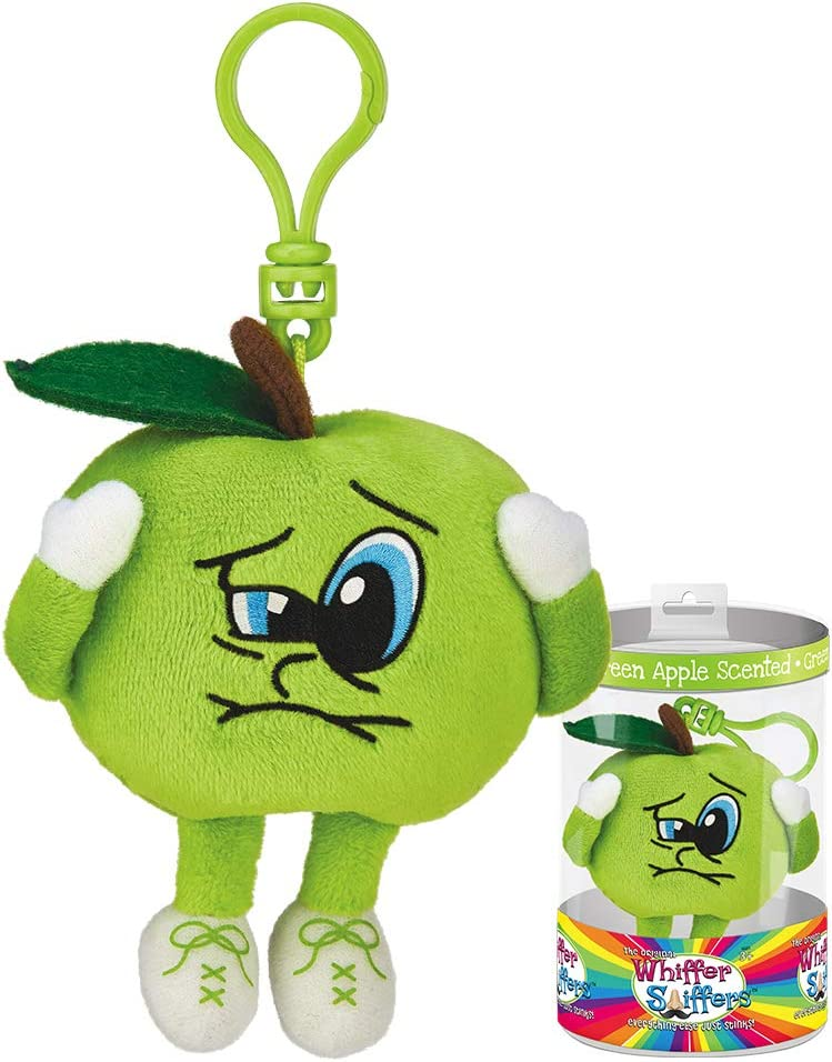 Whiffer Sniffers Sour Saul Green Apple Scented Backpack Clip