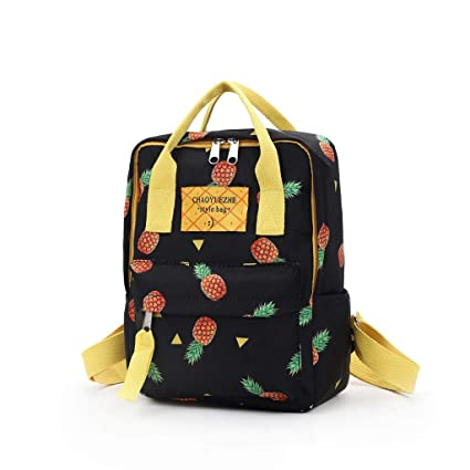 791fb2a9b317 Amazon.com: MaxFox Women Trendy Pineappl Printing Travel Backpack ...