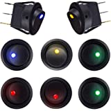 Mintice/™ 15Pcs Car Vehicle Truck Rocker Toggle LED Switch Blue Red Green Light On-off Control 12V 16A