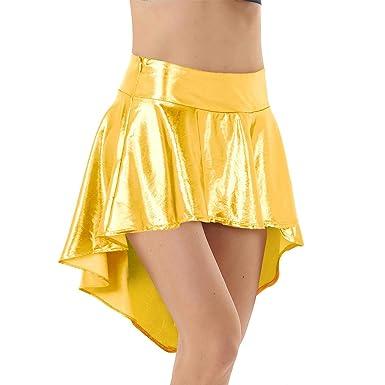 ranranrann - Falda asimétrica para Mujer Plisada de Abeja, Falda ...