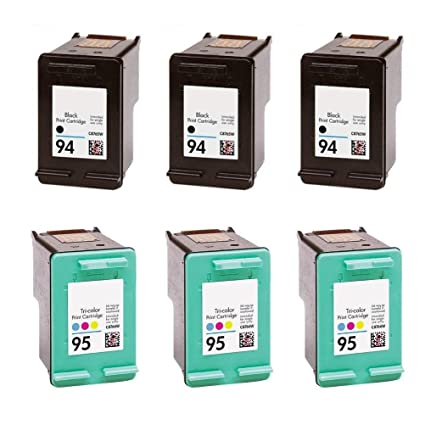 3/Pack 94 negro + 3/Unidades 95 color compatible con: Combo de ...