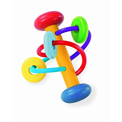 Manhattan Toy Beads Wood Rattle, Swirl (Discontinued by Manufacturer) : Baby Rattles : Baby