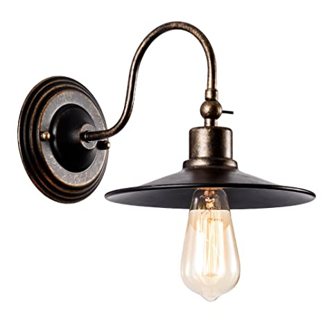 Barn Light Industrial Wall Sconce Rustic Lighting, Gladfresit Retro Metal Barn Wall lamp, Indoor Farmhouse Lights Fixture Adjustable (Bulb Not Included) ...