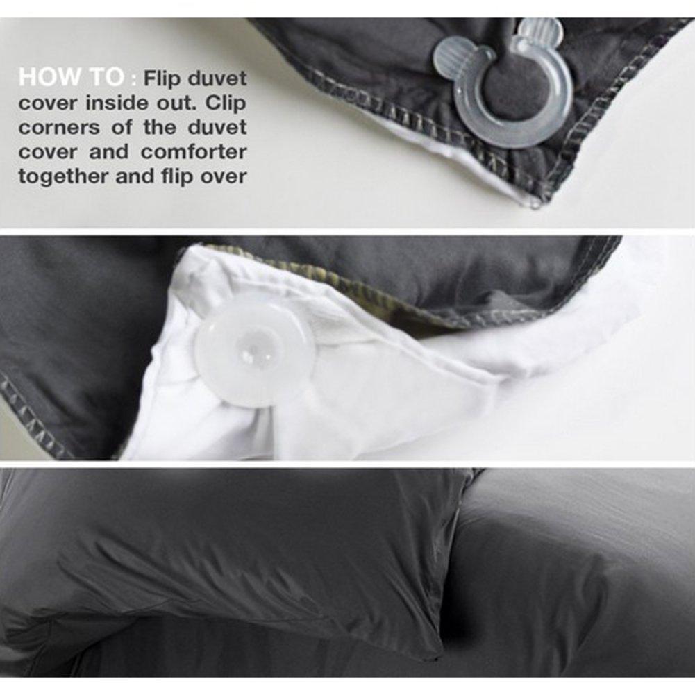 Acoser Duvet Comforter Clips,Bed Duvet Donuts Holders,Keeps Corners Duvets Comforters Blankets in Place 12
