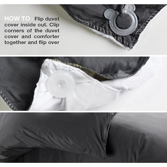 Clips para edredón y fundas de edredón con forma circular que mantienen las esquinas de los edredones y mantas en su lugar: Amazon.es: Hogar