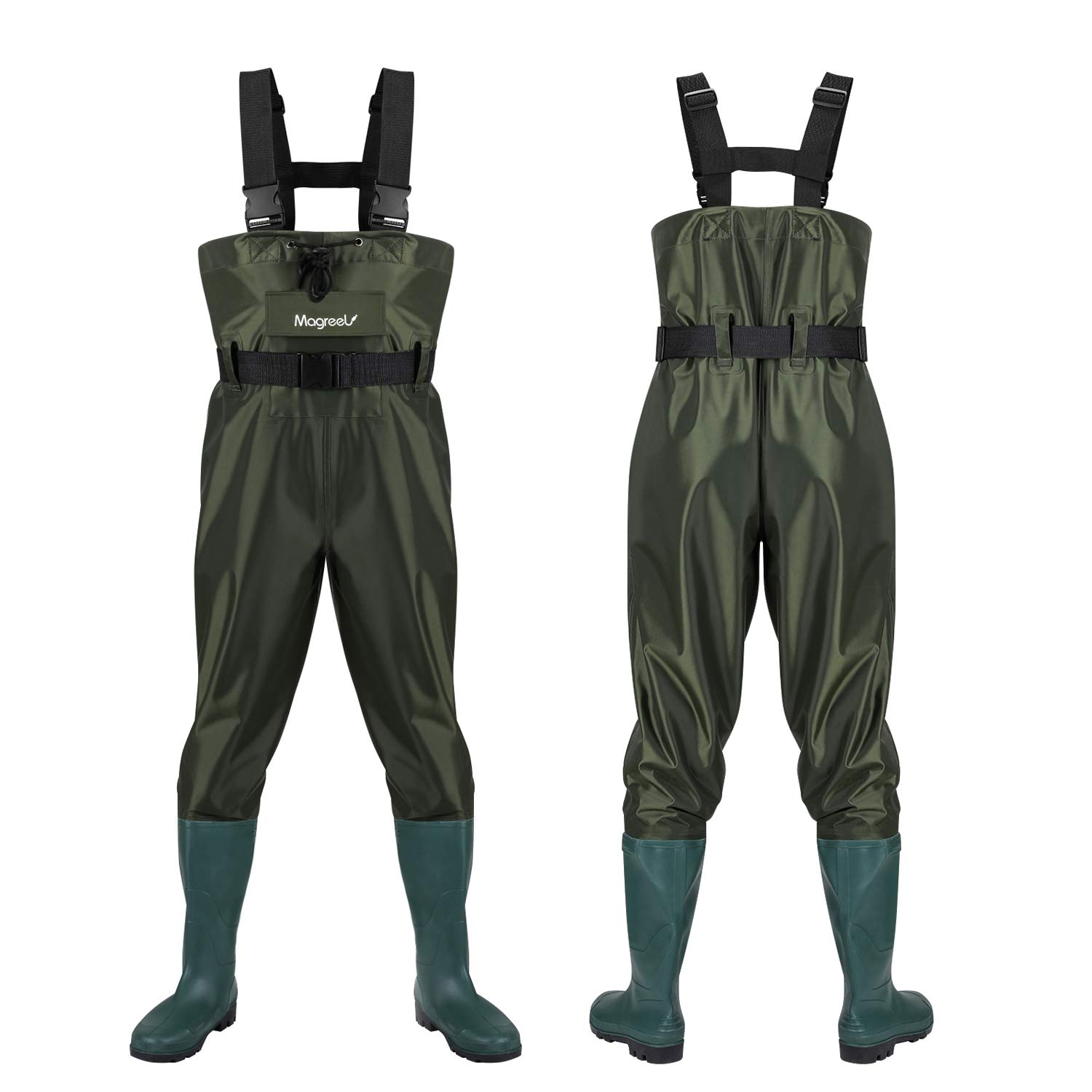 Magreel Chest Waders,Hunting Fishing Waders for Men Women with Boots,Waterproof Bootfoot Nylon PVC Wader, Size 7 -Size 14