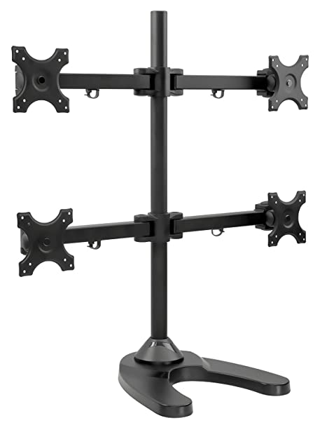 Amazon com : Mount-It! Quad Monitor Stand Desk Mount for LCD