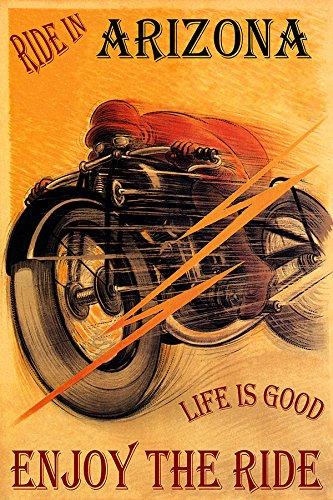 RIDE IN ARIZONA MOTORCYCLE RIDING BIKE LIFE IS GOOD ENJOY 20
