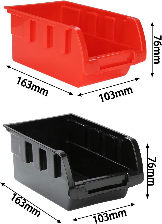 Hengda Wandregal mit Stapelboxen und Werkzeughalter Kleinteilemagazin H/ängeregal Sch/üttenregal Erweiterbar Extra Starke Werkstatt 28 TLG Box