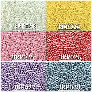 600 pz 6 colores, Cuentas de vidrio checas presionadas, redondas de 3mm. Set RP 311 (3RP023 3RP024 3RP025 3RP026 3RP027 3RP028)