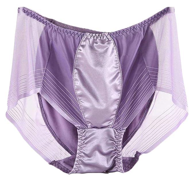 1b0f41b467 Wofupowga Women Loose Patchwork Mesh Plus Size Elastic Waist Transparent  Lace Panties: Amazon.ca: Clothing & Accessories