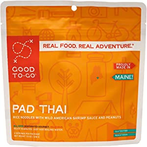 GOOD TO-GO Pad Thai | Dehydrated Backpacking and Camping Food | Lightweight | Easy to Prepare