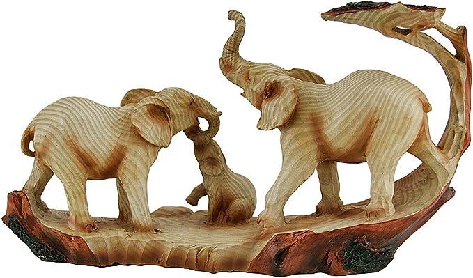 Elephant\u2019s head shaped carved wood box