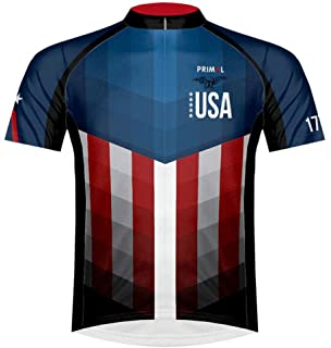 Primal Wear American Patriot USA Flag Cycling Jersey Men s Short Sleeve b086f42a4