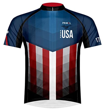 on sale d5e83 780f5 Wear Primal American Usa Cycling Flag Patriot Jersey Men's ...