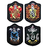 Set of 4 Larger Hogwarts House Shields Harry Potter Robe EMBROIDERED PATCH Badge Sew On 4