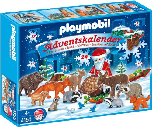 playmobil 4155 advent calendar christmas in the forest amazoncouk toys games