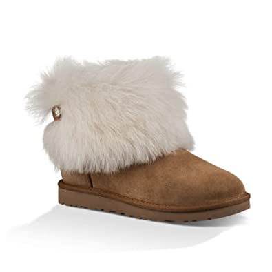 6f30656761f Ugg Australia Women's Valentina Women's Leather Boots With Fur in ...