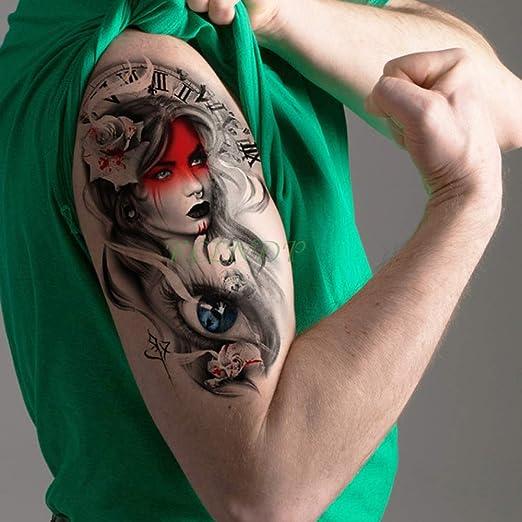 Handaxian 3 Piezas Etiqueta engomada del Tatuaje Gran Bruja ...