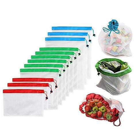 Bolsas de malla para verduras FOONEE, bolsas de malla para ...