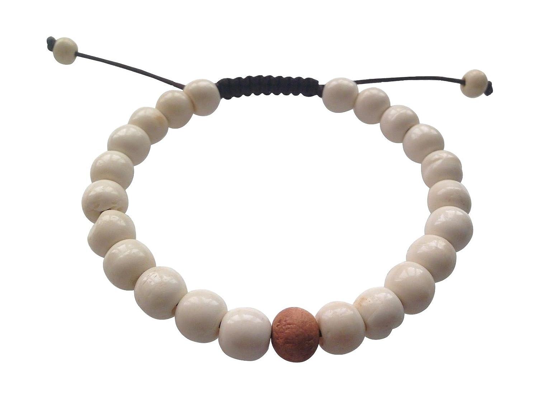 Hands Of Tibet Tibetan Mala Yak Bone Wrist Mala Bracelet for Meditation 3N-JB3G-O2FW