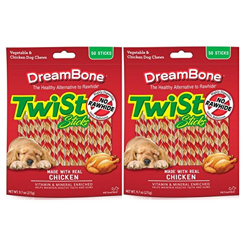 DreamBone Chicken Twist Sticks Dog Chews, 50- Count – 2 Pack For Sale