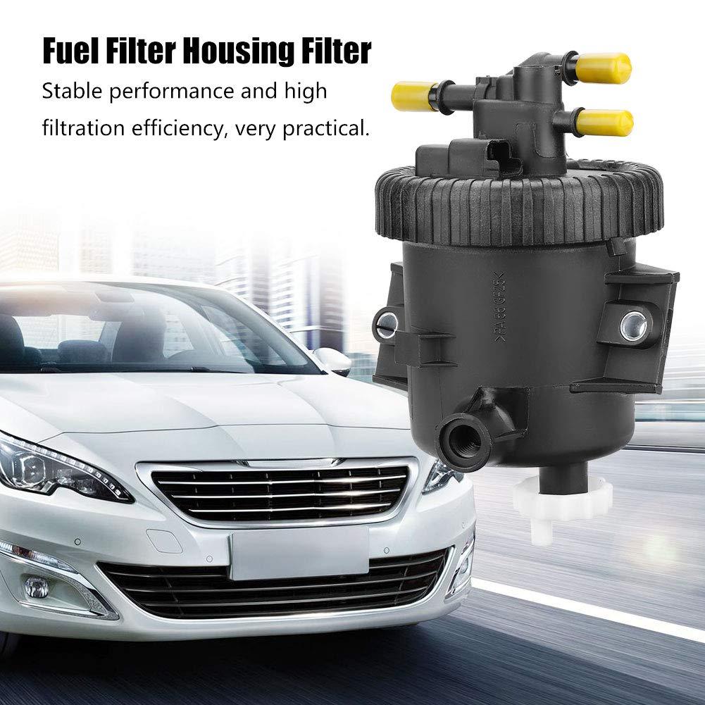 piccolo 8,5 cm // 3,3 pollici Alloggiamento filtro carburante 190165 pi/ù grande filtro carburante plastica nero Keenso 10,5 cm // 4 pollici