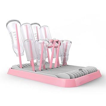 Pink Trockenst/änder baby Plastikplatte kann als Obstteller benutzt werden UPPEL Faltbar Flaschenst/änder Abtropfst/änder Trockengestelle Trockenst/änder f/ür Babyflaschen