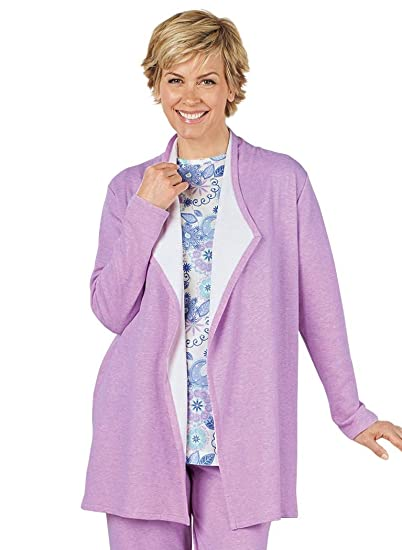 ffd87414bfd998 AmeriMark Knit Lounge Jacket at Amazon Women's Clothing store: