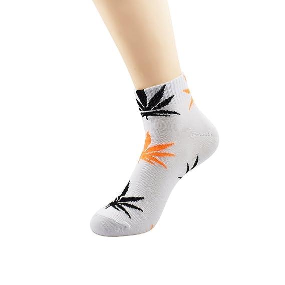 Zando Unisex Hoja de Marihuana Weed Deportes tobillo Crew - Calcetines corto: Amazon.es: Ropa y accesorios
