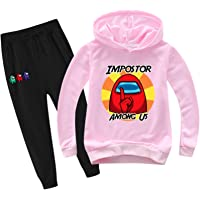 Youth Among Us Games Pullover Hoodie and Sweatpants Suit for Boys Girls 2 Piece Outfit Sweatshirt Set