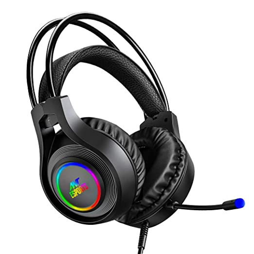 Ant Esports H570 7.1 USB Surround Sound R GB Wired Gaming Headset with Noise Cancelling Mic for PC/Laptop Headsets