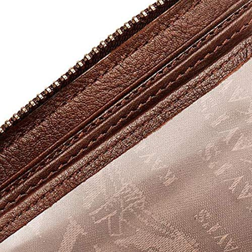 Jsfnngdv color Brown Brown Qualité Portefeuille De En Première Zippé Cuir r1r0zqAH