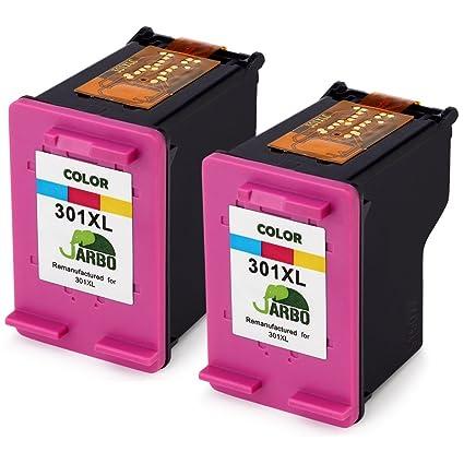 jarbo Remanufacturado HP 301 XL Cartuchos de Tinta (1 negro, 1 ...