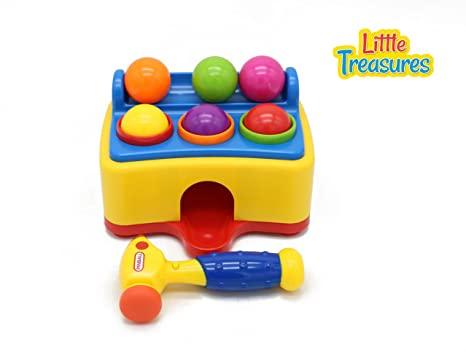 Musical Toys For Toddlers : Amazon.com: pound & play toddlers pounding hammer with light & music