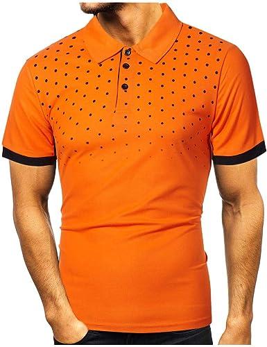 Sylar Polo Manga Corta para Hombre Camisetas Hombre Solapa Manga ...