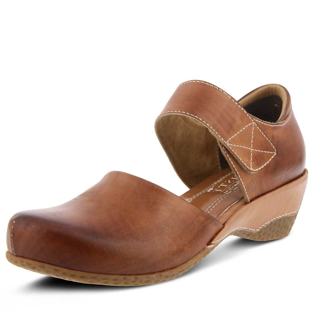 Spring Step Women's Gloss Mary Jane Shoe Brown by Spring Step (Image #1)