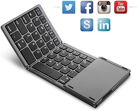 Neutral products Teclado Plegable de Protable Bluetooth Teclado Plegable bidireccional del Panel táctil de BT para Tableta del iPad de: Amazon.es: Electrónica