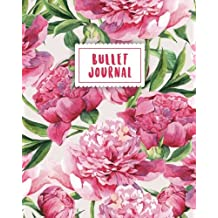 Bullet Journal: Sweet Pink Flower | 150 Dot Grid Pages (size 8x10 inches) | with Bullet Journal Sample Ideas
